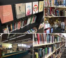 Montage of Library Bookshelves