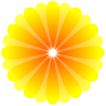 A Yellow Gerbera, drawn in Inkscape